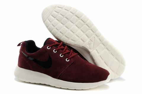 Roshe Run Bordeaux Daim